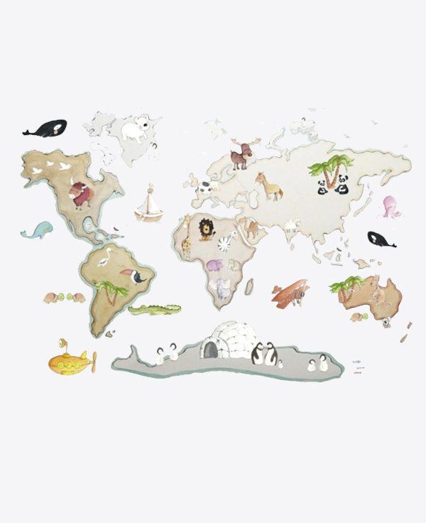 World Map XL Animals