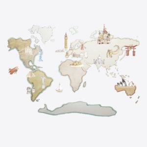 World Map XL Monuments